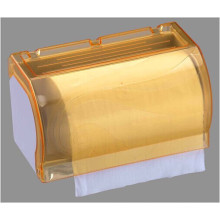 Hotel Publicl Toilet Yellow Translucent Round Plastic Wall Mounted Kitchen Paper Towel Holder