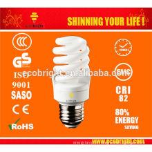 Novo! T2 23W espiral completa qualidade de CE de 8000H de tubo da lâmpada de poupança de energia