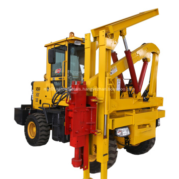 Hydraulic Pile Driving Machine For road fence