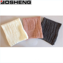 Different Color Warm Fashion Pattern Knitted Infinity Scarf