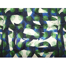 Impressão de tecido de sarja Stretch de seda