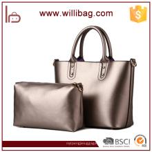 Classique de haute qualité en cuir PU Fashion Handbag Set 2016