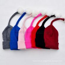 Chapéu de Inverno por atacado para crianças Crianças chapéu de malha de lã de fios tampas quentes
