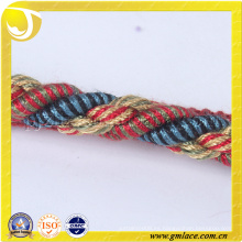 Tela personalizada Cuerda para la decoración del cojín Decoración del sofá Sala Sitio de la cama