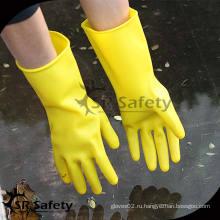 SRSAFETY Желтые более длинные рабочие латексные перчатки