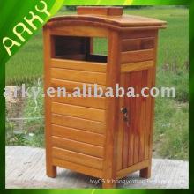 Dustbin en bois extérieur de bonne qualité