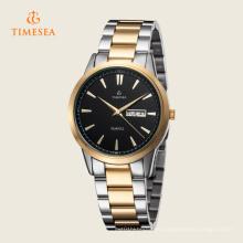 Timesea reloj de cuarzo analógico de acero inoxidable para hombre fecha impermeable 72313