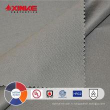 NFPA 70E 7oz gris CN Tissu résistant au feu pour vêtements de sécurité en stock
