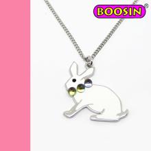 Unique Design Rabbit Necklace / Animal Silver Necklace Wholesale