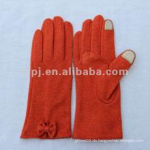 Smart Orange Farbe Iphone Gebrauch Wolle Stricken Touchscreen Handschuh