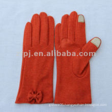 Smart Orange Color Iphone Use Wool knitting Touchscreen Glove