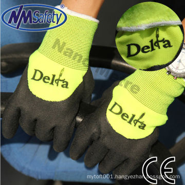 NMSAFETY double Liner nitrile winter hand gloves