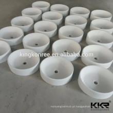 barato banheiro moderno produtos de superfície sólida lavatório oval