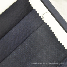 navy blue small check dobby Worsted Wool Fabric for suit