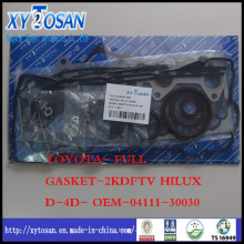for Toyota Full Gasket for 2kdftv Hilux D-4D- OEM-04111-30030