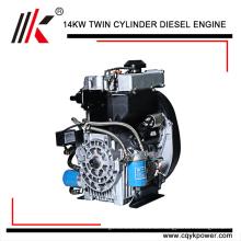 Vertikaler YK292F Duplex-Zylinderdynamo-Motor mit luftgekühlten kleinen Dieselgeneratoren