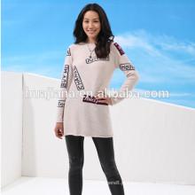 2016 Vestido de tricô feminino novo de 30% de caxemira