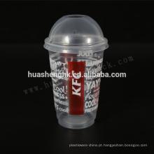 Copos descartáveis plásticos de alta qualidade do smoothie 16oz / 480ml do produto comestível com tampas para por atacado