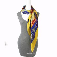 Fashion Printing chiffon hangzhou silk scarf Square Scarf
