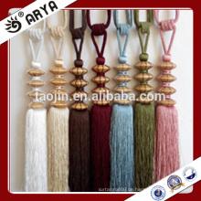Wodden handgefertigte und maschinelle Vorhang Tassel Raffhalter für Vorhänge Dekoration, Vorhang Zubehör