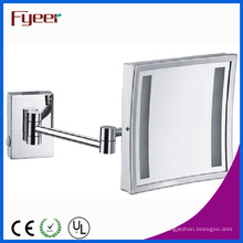 Fyeer Single Side Square plegable espejo de maquillaje LED (M2028F)