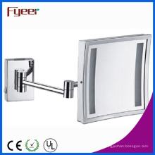 Fyeer único lado quadrado dobrável LED espelho de maquiagem (M2028F)