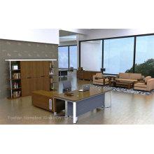Руководителя офисного офиса нового дизайна из дерева и стали (HF-WD021)