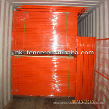 Clôture de construction temporaire enduite de PVC de 6ftx9.5ft pour la protection des emplacements résidentiels de logement