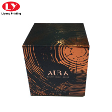 gift box for candle box with stamping logo