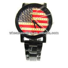 EUA relógio de pulso design bandeira para homens JW-12