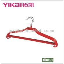 PVC Revestido cabide de camisa de metal com barra de calças