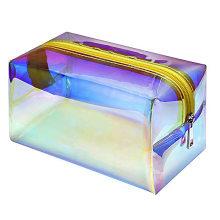 Cute Printing Small Size PVC  Mini Waterproof PVC Slider Zipper Bag bulk holographic Cosmetic Bag