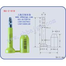 BG-Z-010 perno sellos de alta seguridad del envase