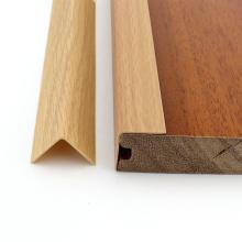 PVC wood grain flooring trim plastic L- shaped floor edge banding plastic profile floor edging strips,YL-E-20*20