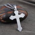 Collar de cadena pendiente de acero inoxidable nuevo diseño de los hombres Collar de cadena pendiente de acero inoxidable nuevo diseño de hombres cruz