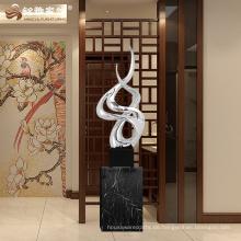 Heiße verkaufende Innengroßes Skulpturharz unregelmäßige Statue für Geschäftsgeschenk