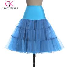 Grace Karin Sky BlueTutu enaguas falda de crinolina enagua para el vestido de boda vintage CL008922-14