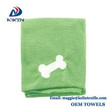 Toalla de secado de perro súper absorbente, toalla de microfibra para baño de animal doméstico Hecho en China