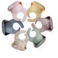 100% Food Grade Custom Pattern Silikon Baby Lätzchen
