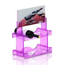 Visualizador de acrílico de exhibición para vino
