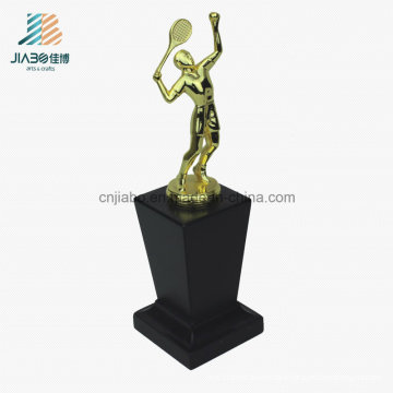 High Quality Alloy Promotional Wholesale Metal Trophy with Wooden Base
