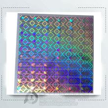 Lithographie par anti-contrefaçon hologramme autocollant imprimé