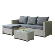 4PCS Rattan Chaise Lounge Garten Sofa Set
