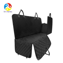 3 in 1 Pet Seat Car Cover by Waterproof Back Seat Cover, Hammock Style, Nonslip, Scratchproof And Washable Bonus Pet Seatbelt