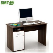 table d'ordinateur noir et blanc pour stype de stockage de bureau
