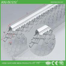 Gesso galvanizado chapa metálica proteção de borda revestimento de ângulo de revestimento fino