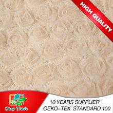 3 In1 Broderie Design, Textile, Ruban Broderie Tissu, Mariage Polyestersatin 3D Rose Broderie Vente en gros Tissu