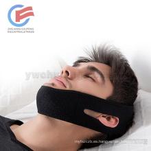 Venta al por mayor más ancho más transpirable hombres y mujeres viejos y jóvenes Solución de ronquidos Jaw Strap Sleep Pack cinturón anti-ronquido