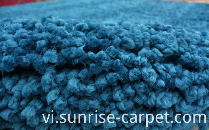Thick Polyester Shaggy Rug Royalblue