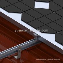 Système de support de toit de panneau d'énergie solaire à la maison de 20kw